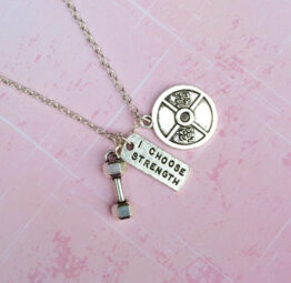 I choose strength necklace