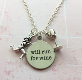 running for wine necklace