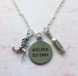 Will Run For Beer Necklace (Aleathlon)